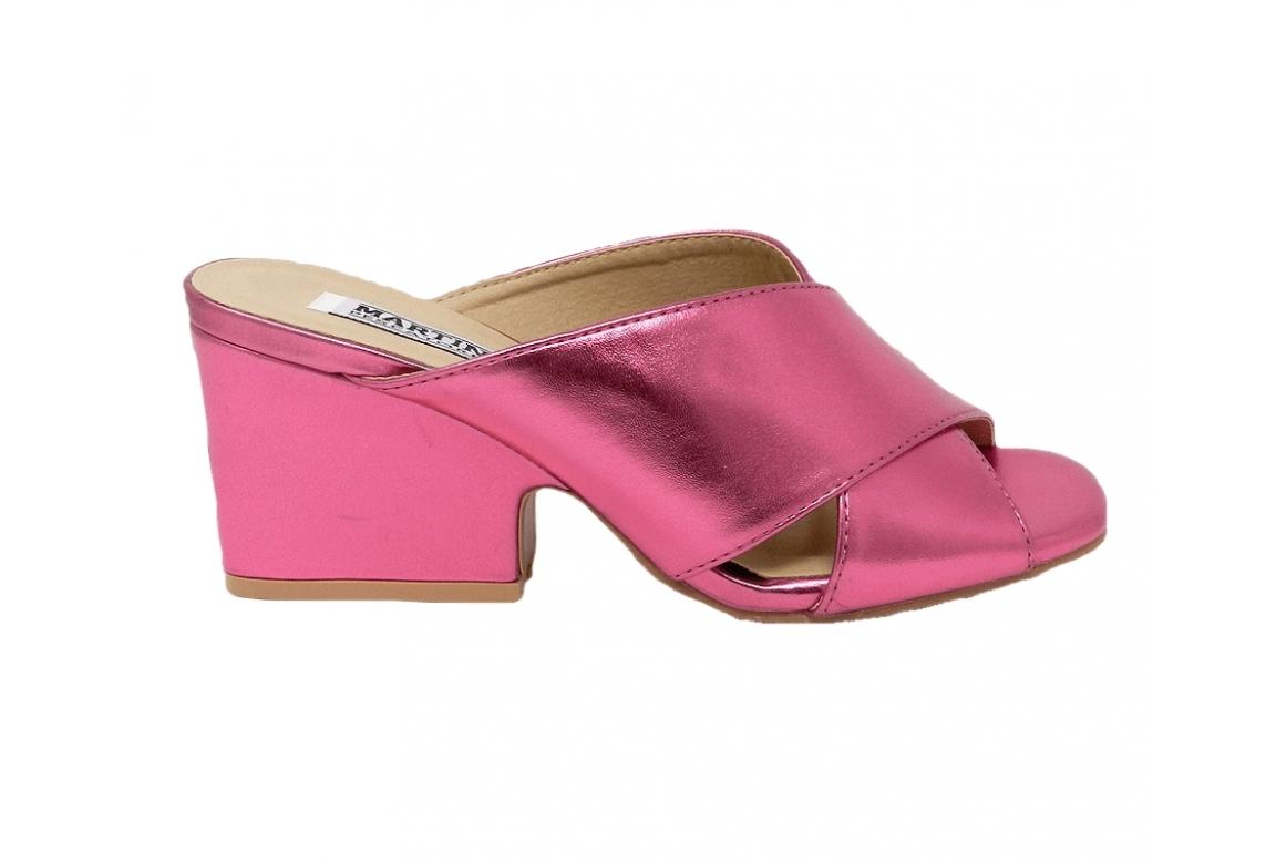 Sandalo donna in eco pelle modello easy-on - fuxia  - 1
