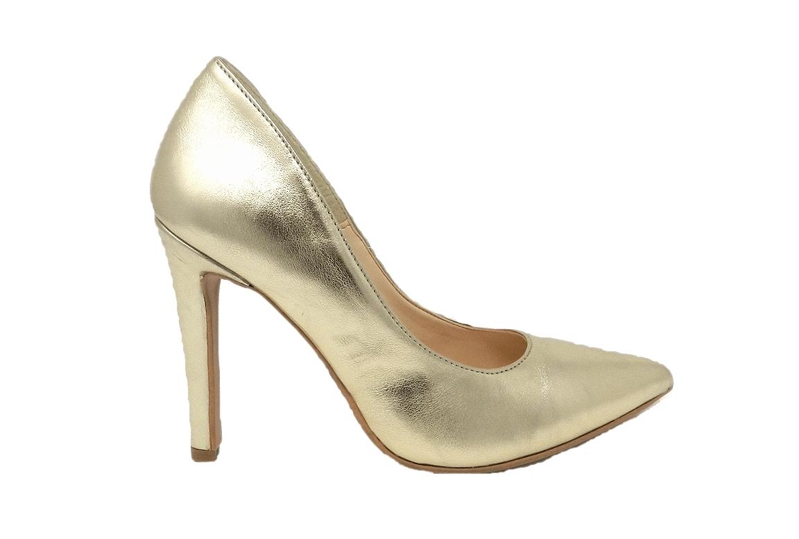 Decolté eleganti a punta con tacco a spillo 10 cm - oro  - 1