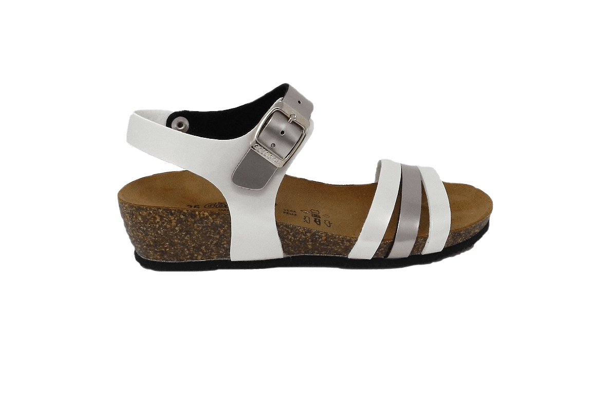 Sandały nieformalne damskie sztuczna skóra lakier - 1