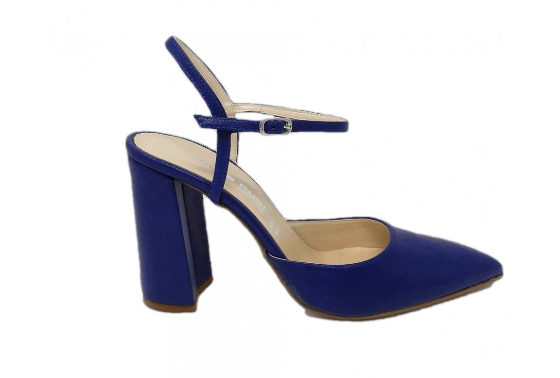 Scarpa donna stile chanel dalla linea elegante -  blu  - 1